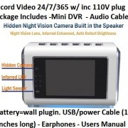 TOP-Secret-Spy-Camera-Mini-Clock-Radio-w4Gb-Sd-Card-included-Hidden-DVR-Continuous-power-or-battery-power-No-need-for-a-PC-FF-and-RR-right-on-screen-Turn-off-screen-and-keep-on-recording-silently-with-0-5