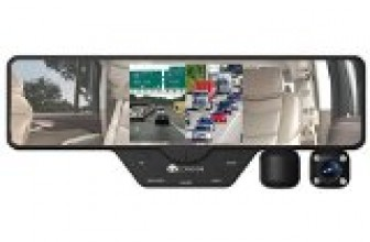 Condor® Dual X Full HD 1080p Dash cam and DVR, 2 swivel cameras on rearview mirror. Split screen display, 16gb card and storage case included. 12 FT long cable for easy hide away. Reviews
