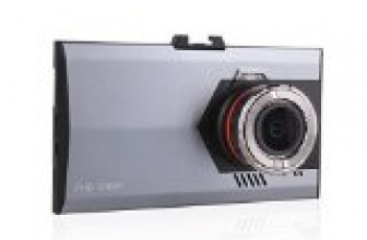 """EMY Car DVR Ultra Thin 1080P Full HD 1920×1080 Dash Cam Camcorder with Night Vision G Sensor 170° Wide Angle 3.0"""" LCD"""