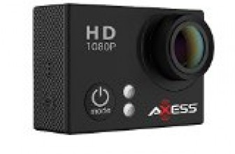 AXESS CS3604-BK 1080p Full HD Action Camera with Waterproof Housing (Black)