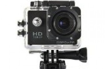 DBPOWER Waterproof Action Camera 12MP 1080P HD with 2 Batteries and Free Accessories Kit (Black)