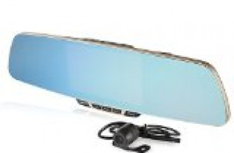 ZeroEdge Dual-lens Car Camera, Full HD 1080P Large Rear View Mirror with 5-Inch Display Screen