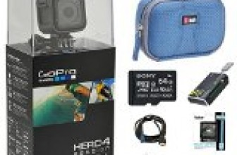 GoPro HERO4 Action Camera Ready for Adventure Bundle Includes GoPro Hero 4, 64GB Micro SDXC Memory Card, Case, Card Reader, Memory Card Wallet, HDMI, Lens Cleaning Kit and Beach Camera Cloth Reviews