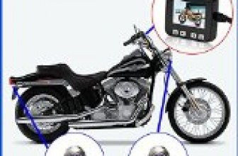 Biker's Camera, Sykik C6 Motorcycle Action Camera, Sport camera and DVR. Front camera and back camera , LCD monitor with Picture in picture