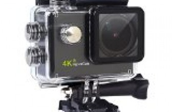 MonoRover RoveCam C1, 4K Action Camera, Waterproof Cam Dv Camcorder, Outdoor for Hoverboard Scooter Skating, Bicycle, Motorcycle, Diving, Swimming, Skiing with Free Accessories Kit