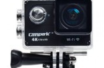 Campark 4k Wifi Ultra Hd Waterproof Sports Action Camera,time Lapse,burst Photo,independent Apps for Ios and Android,2pcs Batteries Included