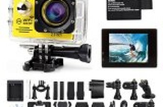 Tekcam Original SJ7000 WIFI 2.0inch 14MP FHD Sports Action Camera waterproof with 2 Batteries and free Accessories (Yellow)