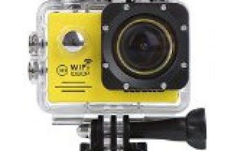 CCbetter Wifi 12MP Full HD 1080P CS720W Waterproof Sports Action Camera 170°wide-angle  Helmet Camcorder Diving Video DVR with 2 Batteries and Free Accessories (Yellow)