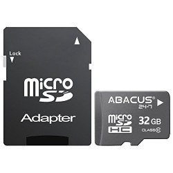 Abacus24-7 32 GB micro SD Memory Card with Adapter for HTC 10, A9, Bolt, Desire 530, 626, Eye, 510, 526, 610, 826, 625, 816, One M7, M8, M9, Max, Remix