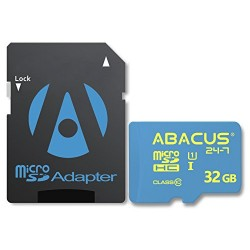 Abacus24-7 micro SD 32GB Memory Card [UHS-I, Class 10] with SD Adapter