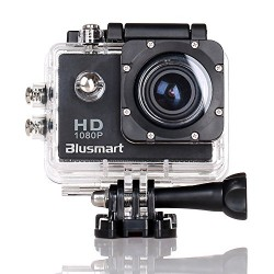 Blusmart Pro CS710 12MP HD Sports DV Action Camera 120 Degree Waterproof Diving Video Camera Car DVR with 2 Batteries and Free Accessories Kit (Black, 1.5 Inch)