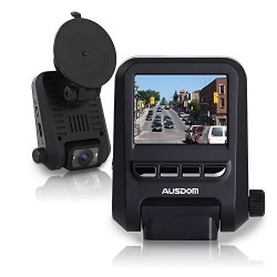 Ausdom AD118 Car Digital Video Recorder with 2-Inch FHD 1080p Resolution, WDR, 6-Glass lenses, Motion Detection and Loop-Cycle Recording