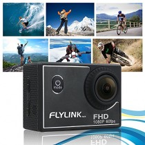 Flylinktech® M10 NEW for HD 1080P 60fps Sports Action Camera H.264 12MP Helmet Cam 1.5 -inch High Definition Screen with 60M Waterproof Case (Black)
