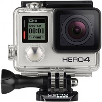 GoPro Hero4 Hero 4 12MP Full HD 4K 30fps 1080p 120fps Built-In Wi-Fi Waterproof Wearable Camera Black Adventure Edition (128GB)