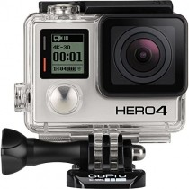 GoPro Hero4 Hero 4 12MP Full HD 4K 30fps 1080p 120fps Built-In Wi-Fi Waterproof Wearable Camera Black Adventure Edition (Mic Stand + 8GB)
