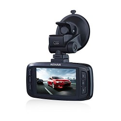 KEHAN KH821-30V Full HD 1920*1080 Car DVR Dash Cam Dashboard Camcorder 170° Wide Viewing Angle 2.7″ Screen Ambarella A7 with G-Sensor HDR Night Vision Motion Detection 6-Glass Lens 64GB Memory Card