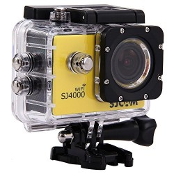 MeGooDo SJCAM Original SJ4000 WiFi Action Camera 12MP 1080P H.264 1.5 Inch 170° Wide Angle Lens Waterproof Diving HD Camcorder Car DVR (Yellow)