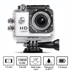 Neewer 10-in-1 H.264 12MP 1080P Sports Camera and Accessroy Kit