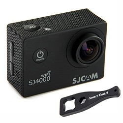 Original SJCAM SJ4000 WIFI Action Camera Sports DVR Water Resistant 30M Outdoor Camcorder Helmet Bicycle Motorcycle Camera with a Free Mini SmartTmall Wrench, Black