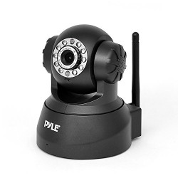 Indoor Wireless Home Security Surveillance IP Camera with PTZ, Motion Detection and Night Vision – Connect Wifi for Remote Access to Live Video – Pyle PIPCAM5