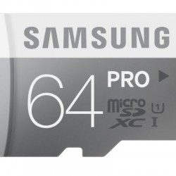 Samsung 64GB PRO Class 10 Micro SDXC up to 90MB/s with Adapter (MB-MG64DA/AM)