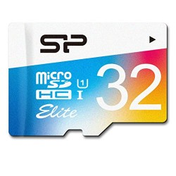 Silicon Power 32GB Elite micro SDHC UHS-1 Memory Card – with Adapter (SP032GBSTHBU1V20SP)