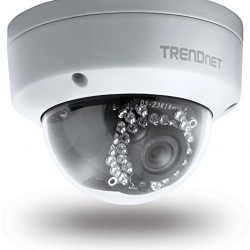 TRENDnet Indoor/Outdoor Dome Style, PoE IP Camera with 3 Megapixel Full 1080p HD Resolution