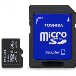 Toshiba Micro 64GB Secure Digital Micro SD Class 10 SDXC Memory Card (PFM064U-1DCK)