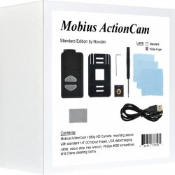 Wide Angle Mobius ActionCam HD Camera (V3 / 820 mAh / Lens C2 / 32GB)