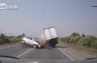 Head On Collision And Car Flips