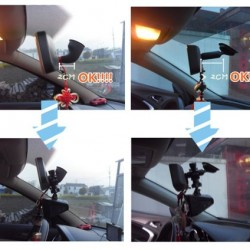 iSaddle CH02D Car Rearview Mirror Camera Mount Holder Bicycle Handlebar Dash Cam Mount Holder for Car DVR Camera GPS
