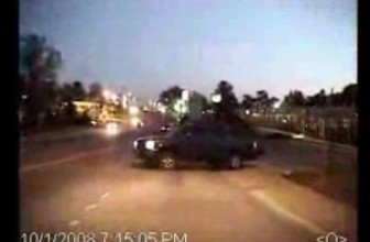Police Crash Into SUV And Police Beat Latino Motorist For Blue Tinted Lights