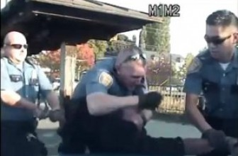 Police Shoot At Minivan With 5 Kids And Police Choke And Punch Suspect