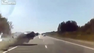 Driver Falls Asleep, Head On Collision – 2 Videos