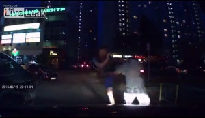 Car Runs Red Light And Drunks Messed w/Wrong Guy