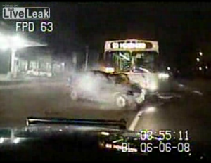 Police Chase Ends In Bus Accident And Mayor Pulls Over Cop
